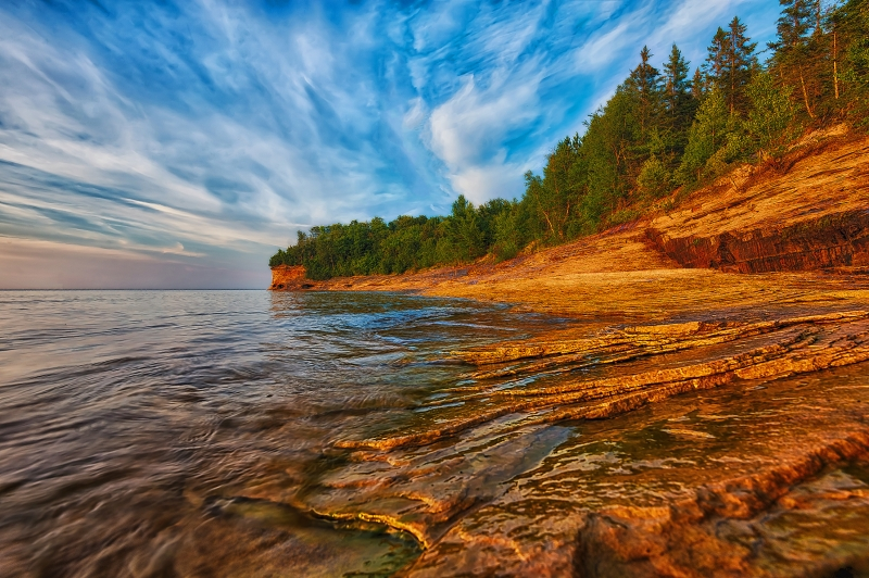Evening Along The Pictured Rocks