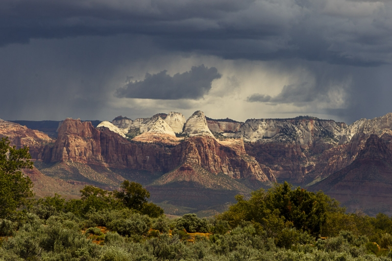 Storm Building Over Zion National Park