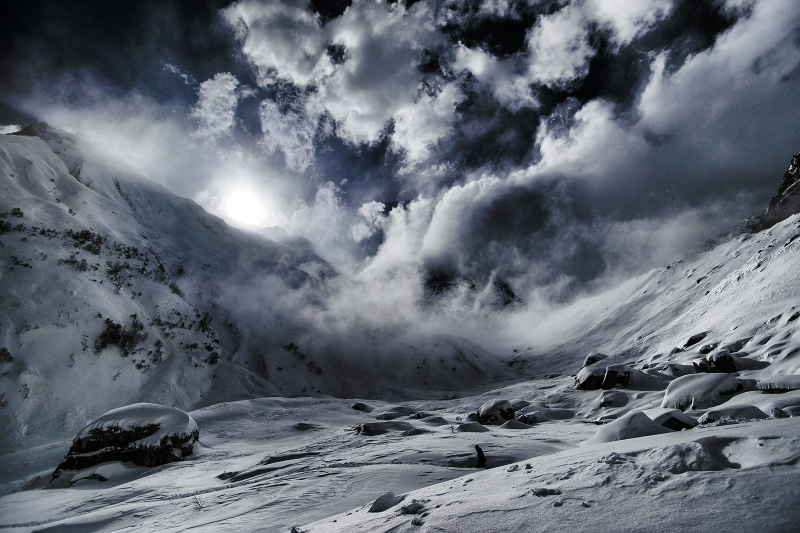 Annapurna South Snow Storm