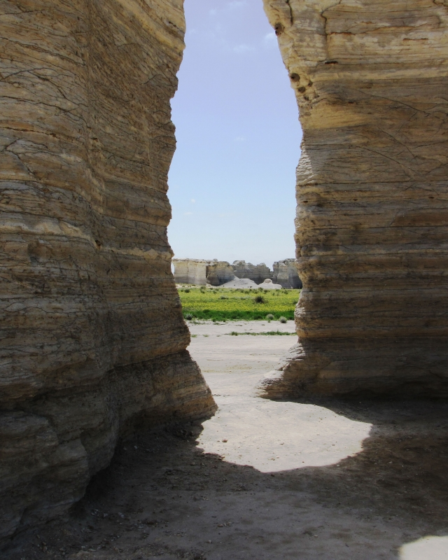 A Look Through Natural Arch Monument Rocks Kansas