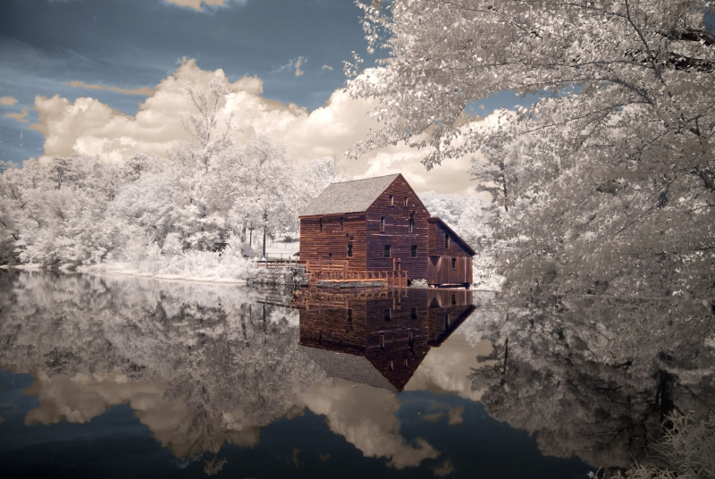 Mill House Reflections, Infrared