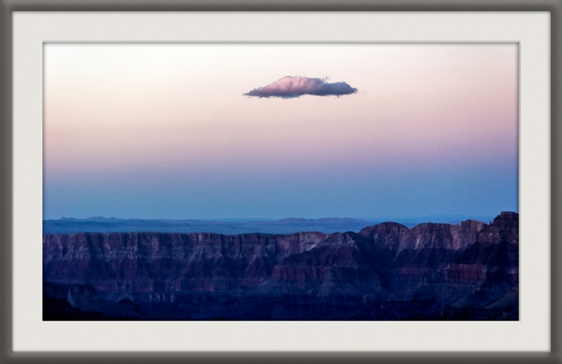 Lone Cloud Over Grand Canyon