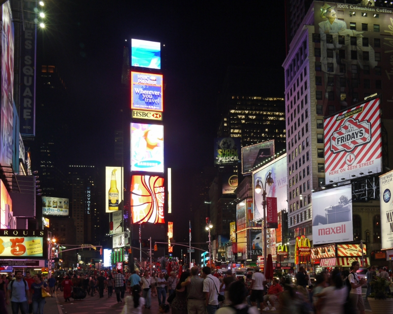 Times Square In August