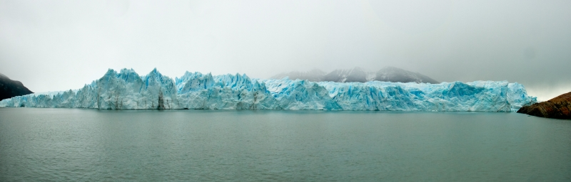 Perito Moreno Glacier In The Fog