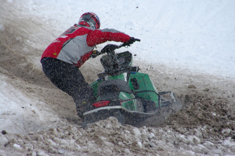 Snowmobile Hill Climb Action