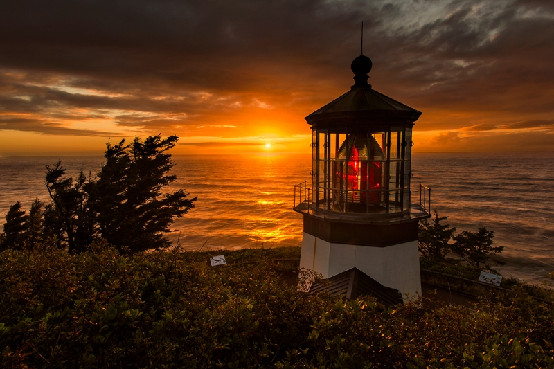 Sunset, Cape Meares Lighthouse, Oregon