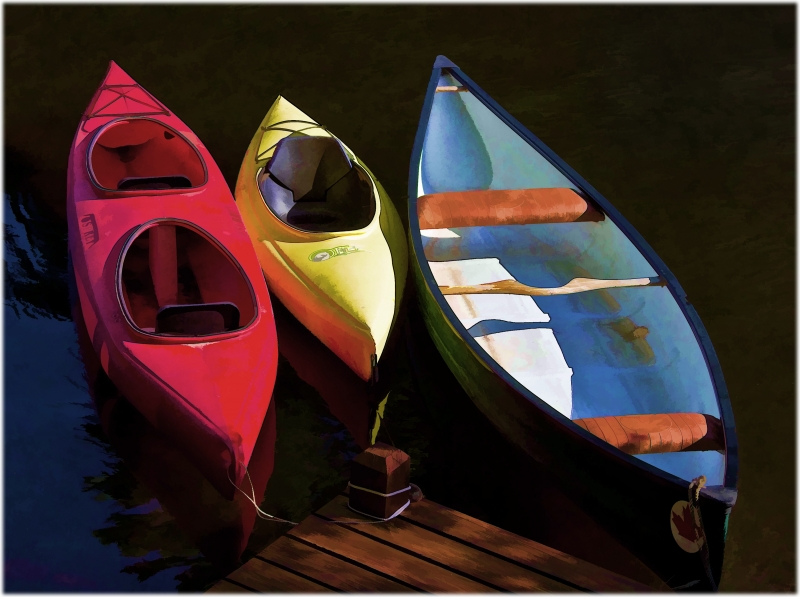 Boats At A Dock