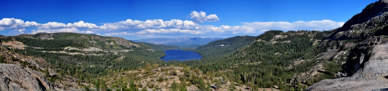 Donner Lake Panorama From Donner Lake Lookout
