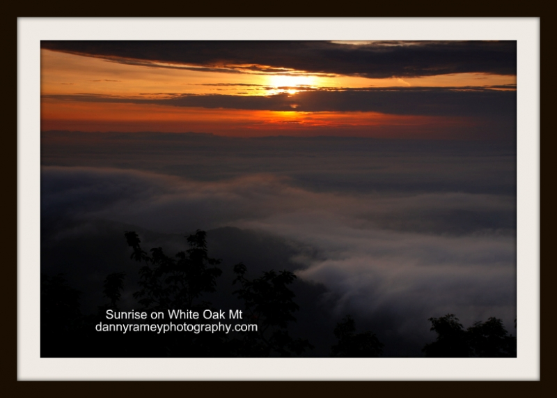 Sunrise On White Oak Mt