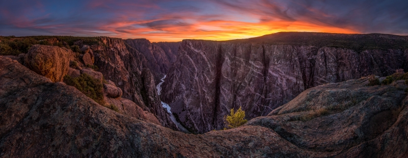 Sunset Over The Black Canyon