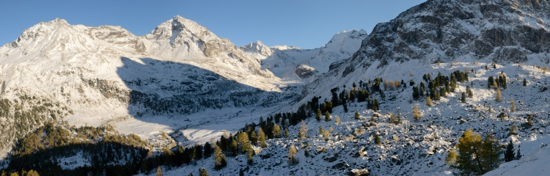 First Snow On Pizzo Di Dosdè And Lagospalmo Peaks