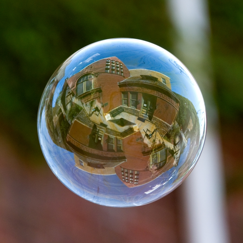 Dimmick Memorial Library In A Bubble