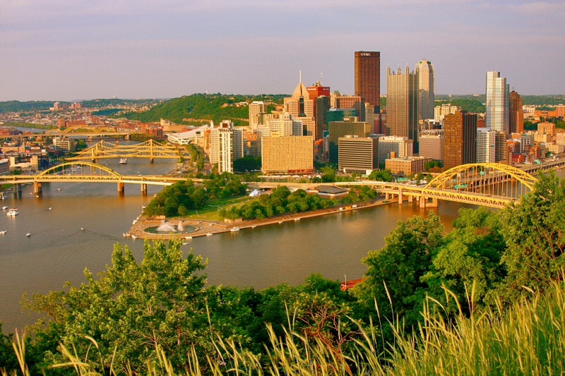 View Of Pgh, Pa From Duquesne Incline
