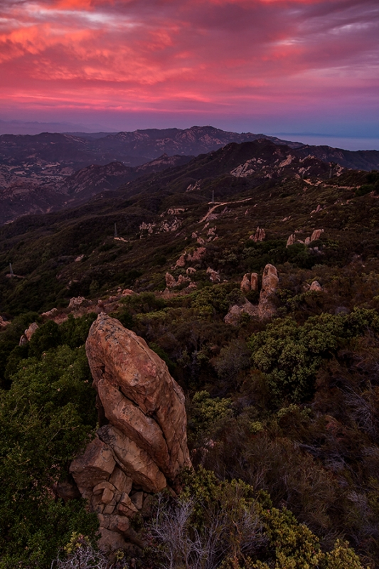 Sunset, Santa Monica Mountains National Recreation Area
