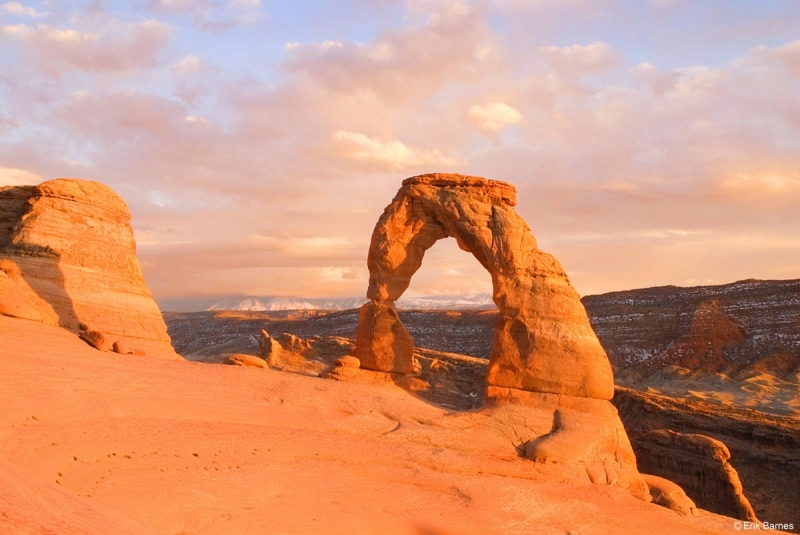 Delicate Arch And The Painted Landscape