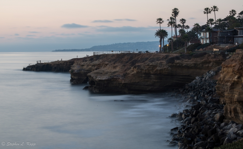 Long Exposure Of Sunset Cliffs