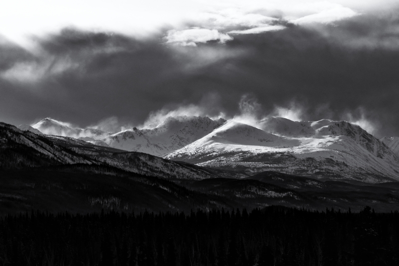 Blowing Snow, Cassiar Mountains, Yukon