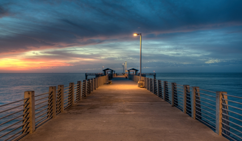Sunset At Fort Desoto Gulf Pier