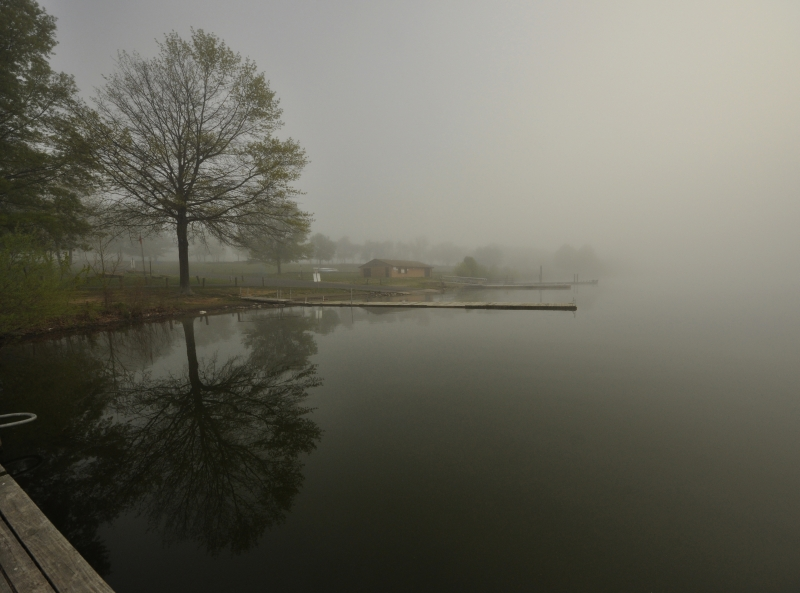 Foggy Boat House
