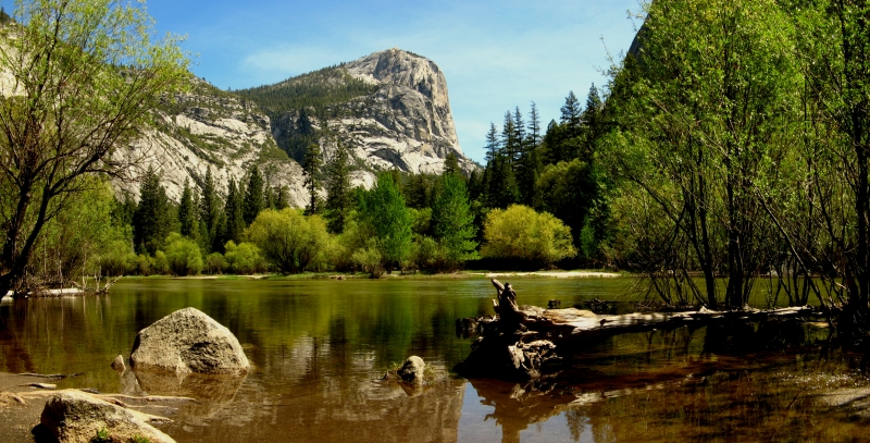 Merced River View Of North Dome