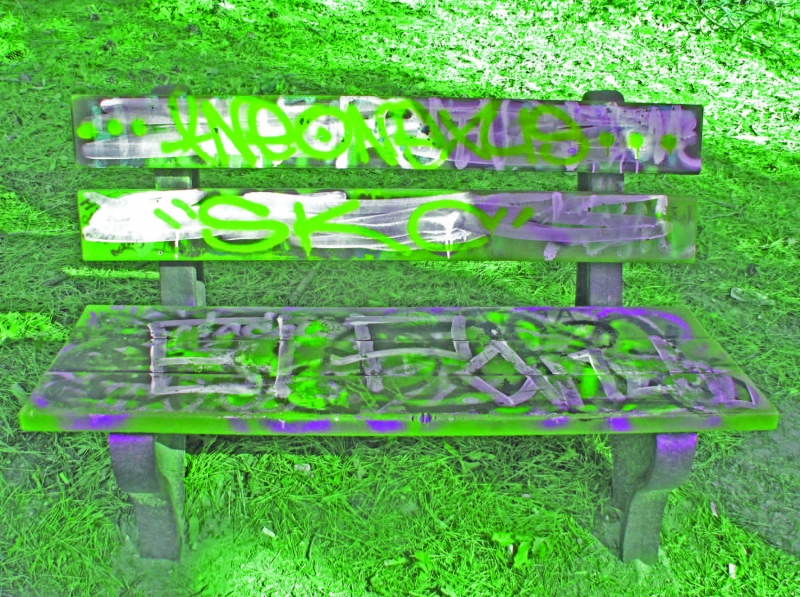 Tagged Bench.