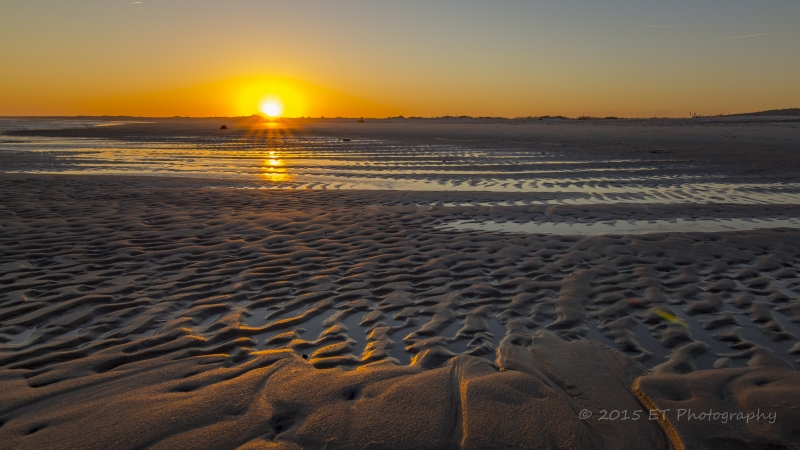 Sunset Over Tidal Pools