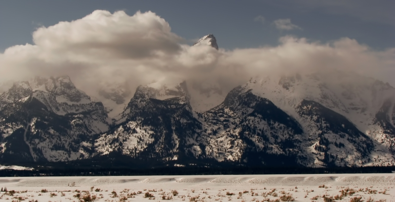 Tetons Peaking Out