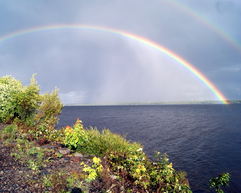 Double Rainbow Over Lake Gogebic