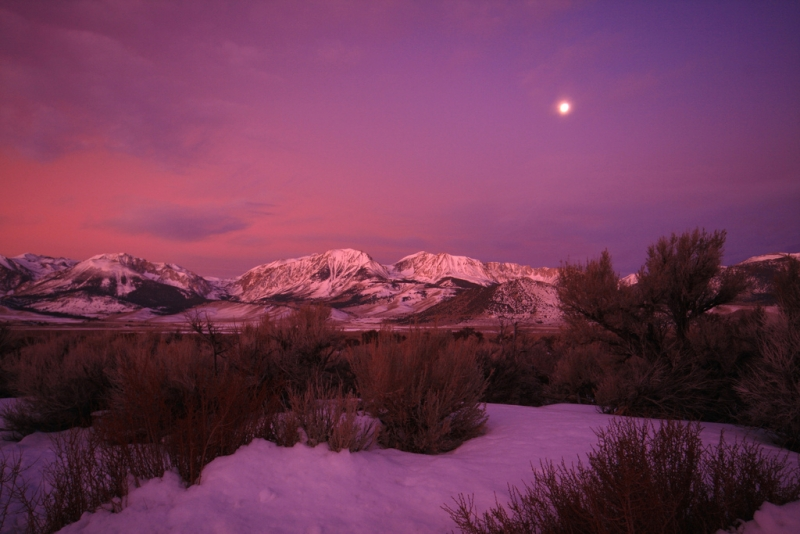 Moonset Over The Eastern Sierras