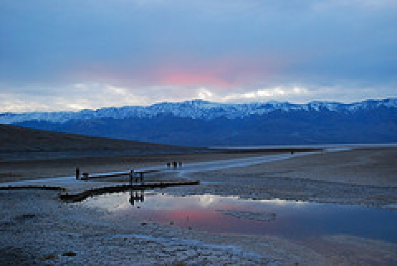 Sunset At Badwater, Death Valley, Ca