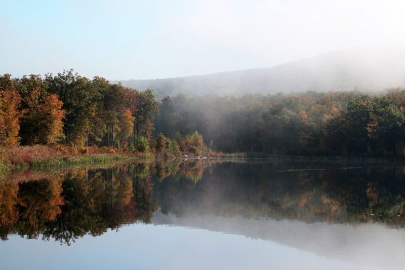 Autumn Mist, High Point State Park Lake