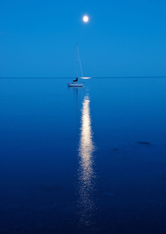 Bluefin Bay Moon On Lake Superior