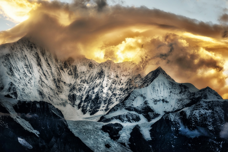 Meli Snow Mountain, China  – Sunset