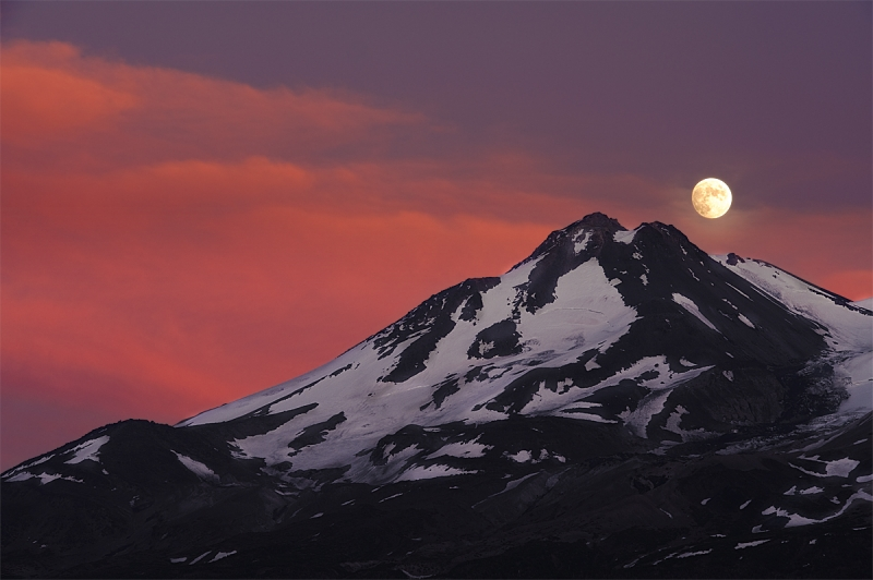 Moonrise Over Mt. Shastha
