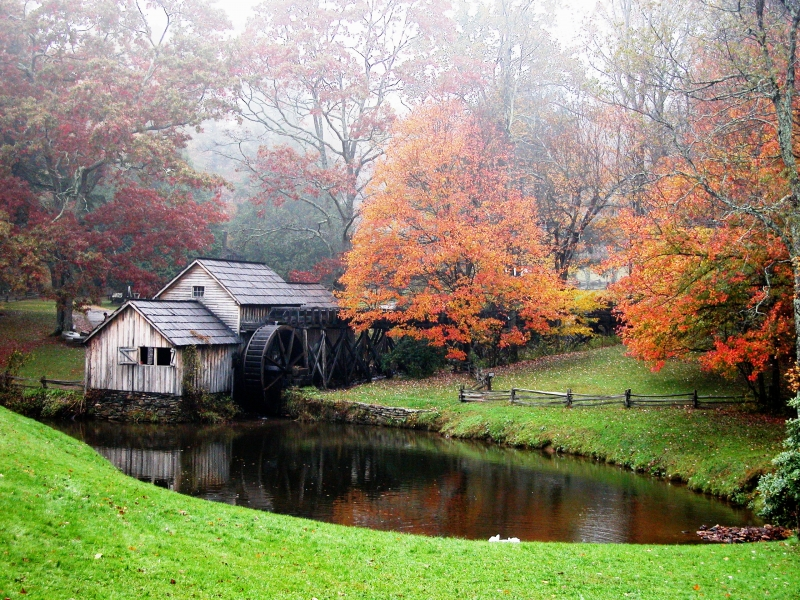 Mabry Mill In Clearing Fog