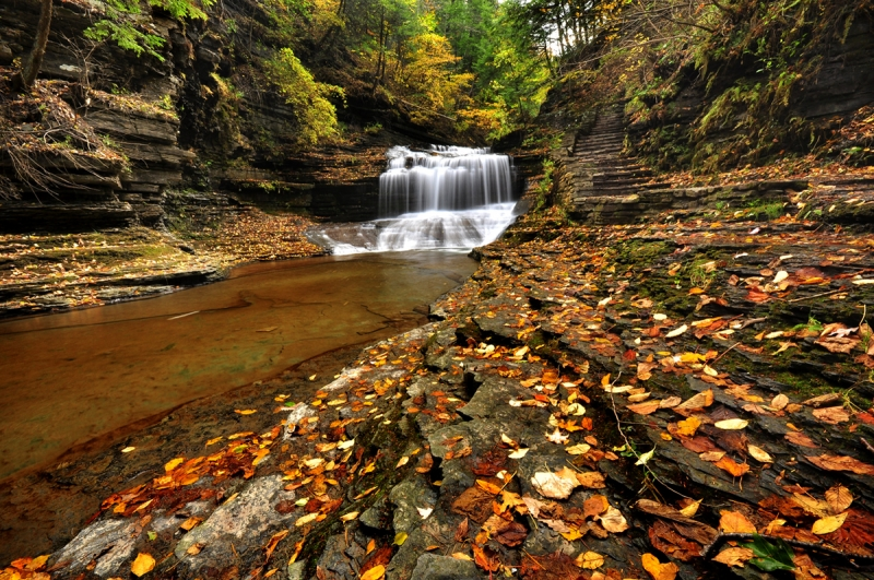 The Trail Of Buttermilk Falls State Park