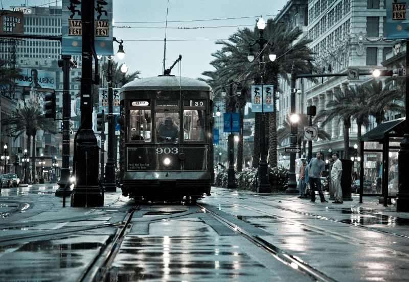 Saturday Morning-canal Street Trolley