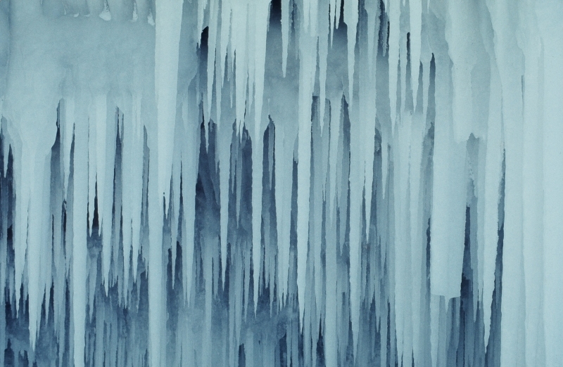 Wall Of 40 Foot Icicles