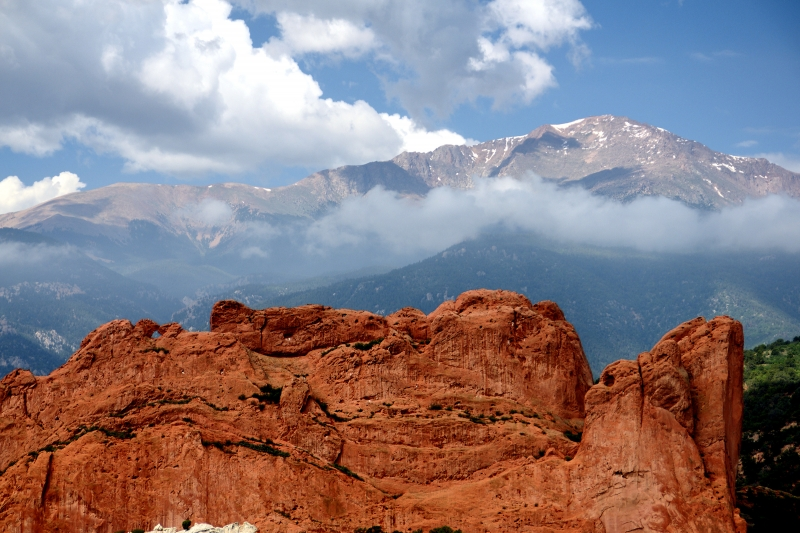 Kissing Camels Rock And Pikes Peak