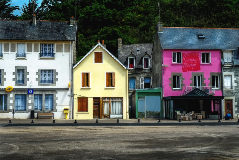 Beautiful Light Village In Brittany