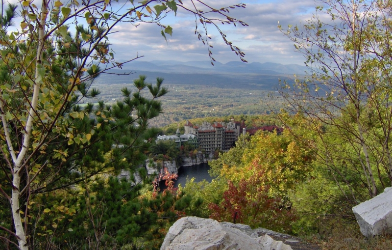 Lake Mohonk In Autumn