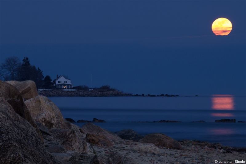 Moon Rise Over Old Lyme