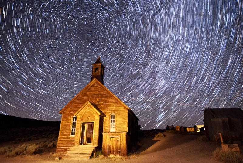 Star Trails At Bodie
