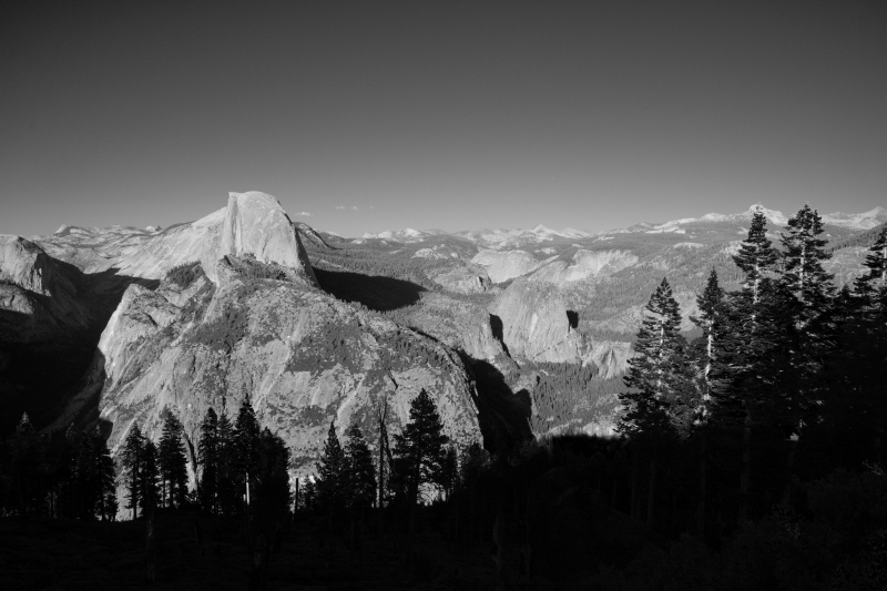 Glacier Point In B/w