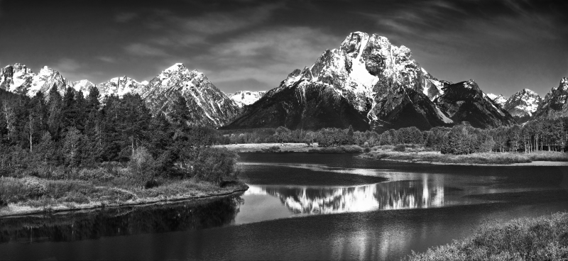 """mount Moran At The Oxbow Bend"