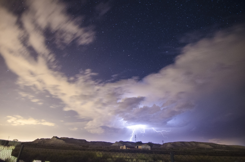 Monegros Storm And Stars