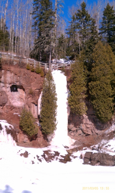 Ice Falls At Gooseberry