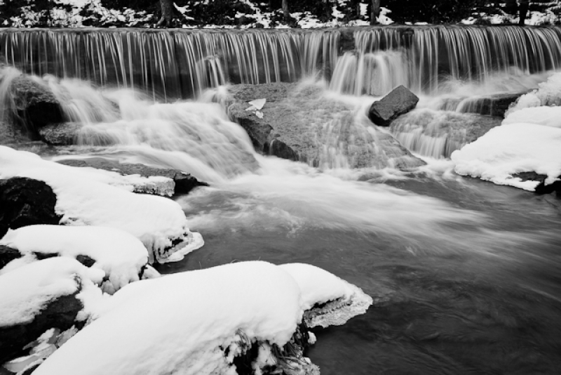 Winter At Pillsbury Crossing Bw
