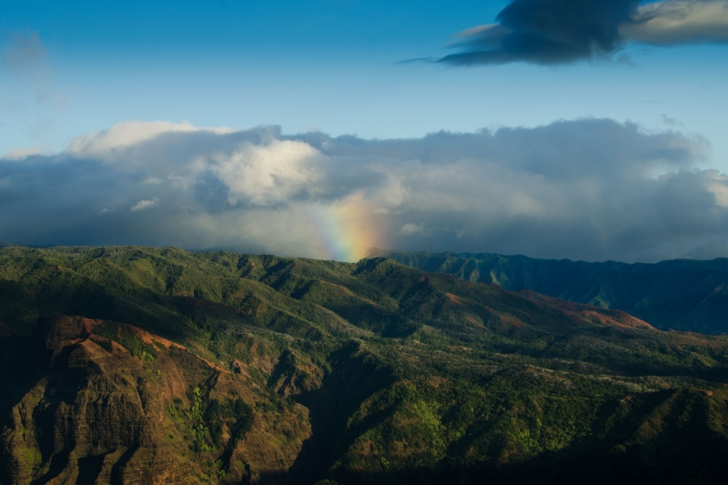 Rainbow Over The Waimea Canyon