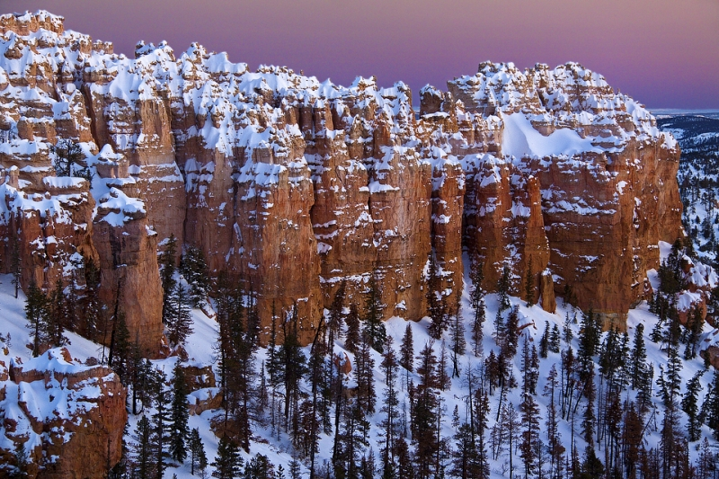 Dusk At  Bryce Canyon